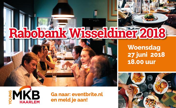Woensdag 27 juni: eet mee bij het Rabobank Wisseldiner!